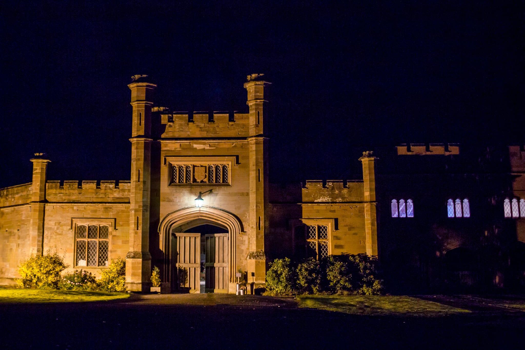 Stoneleigh Abbey at night