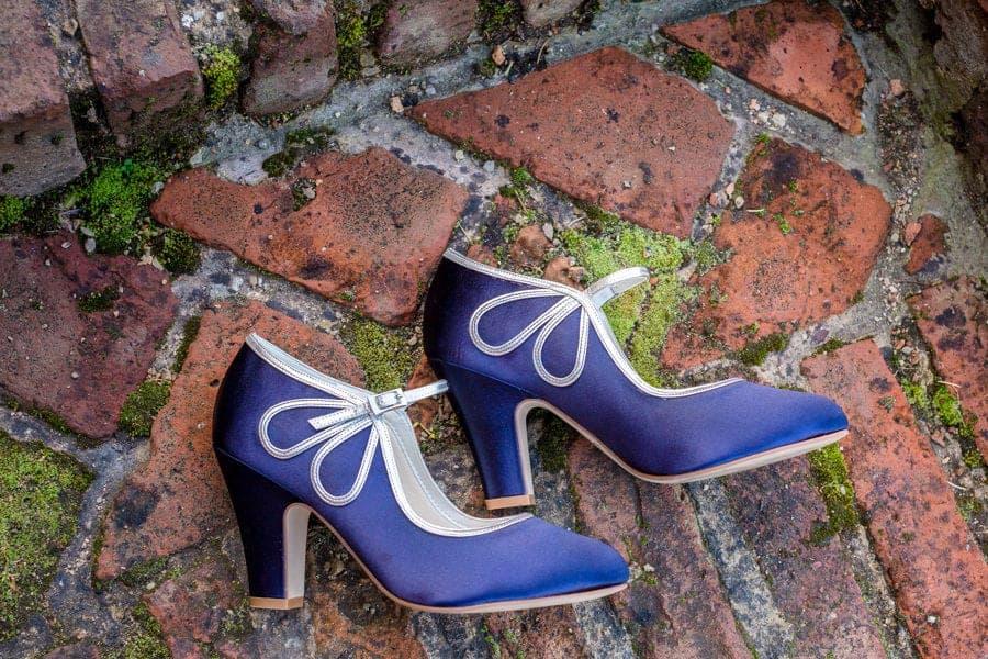 blue rainbow club wedding shoes