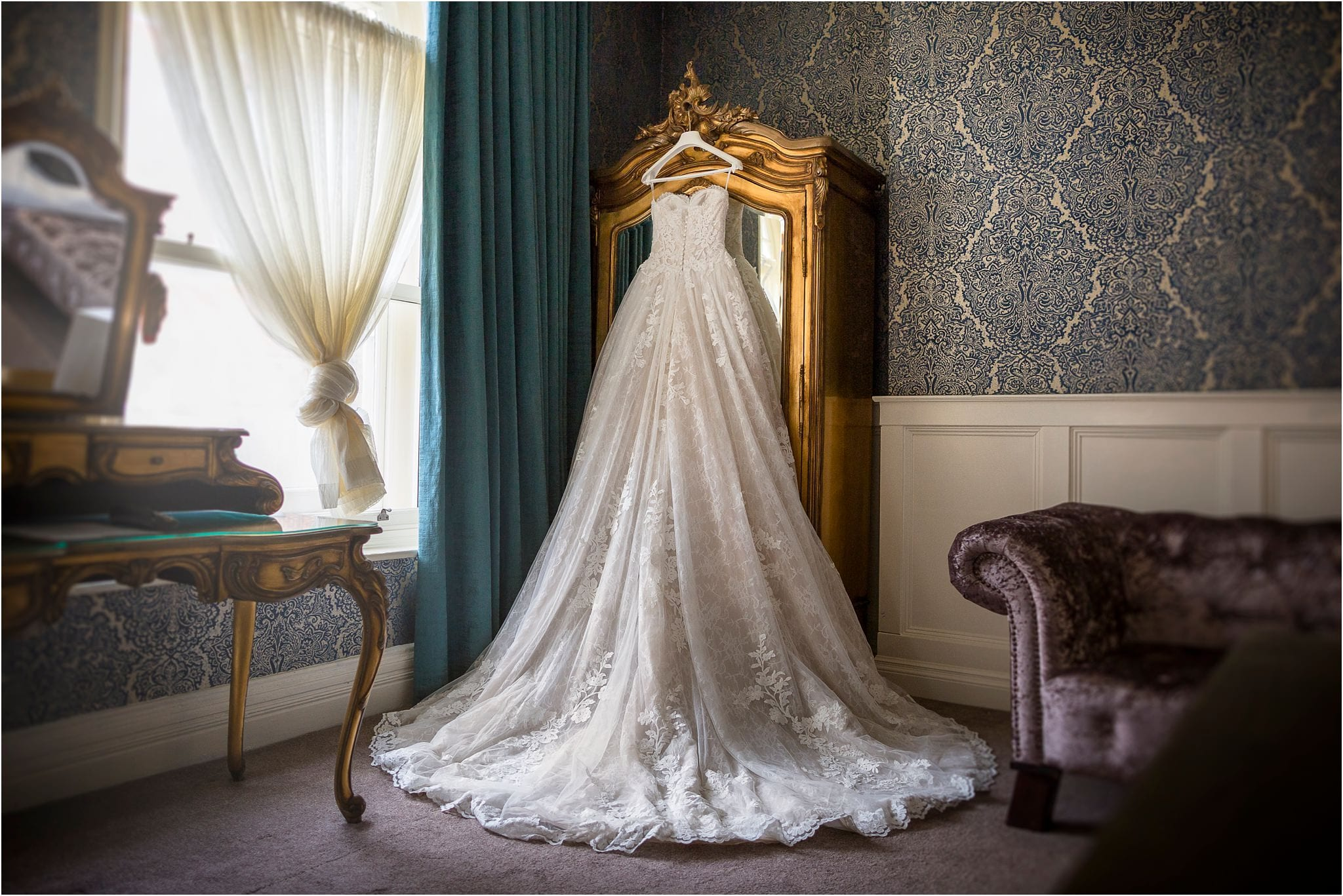 pronovias dress at a cardiff castle wedding