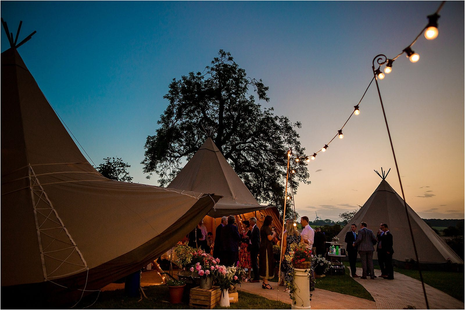 tipi wedding in county durham