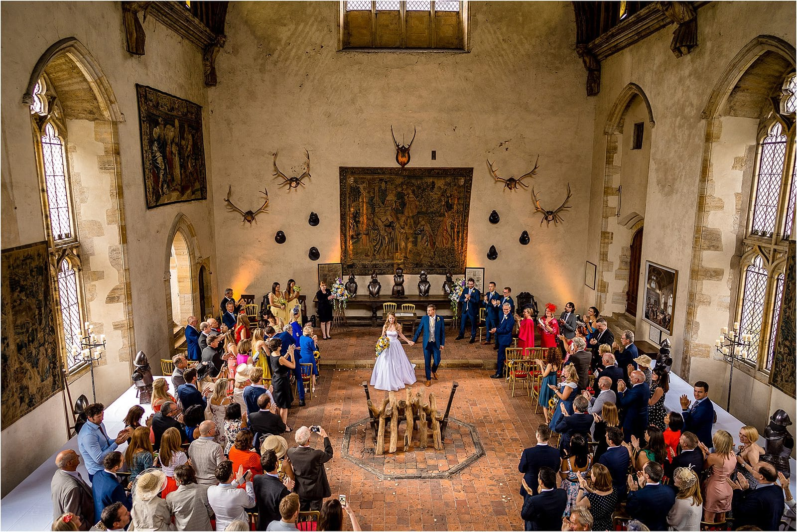 wedding ceremony at penshurst place in kent